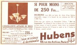 "PUB  LUMINAIRES LUSTRES  ""ART DECO "" "" HUBENS ""   1934 ( 17 ) - Lamps"