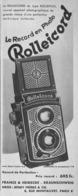 """PUB  APPAREIL PHOTOGRAPHIQUE """" ROLLEIFLEX """"   1934 - Cameras"""