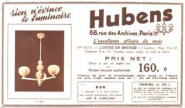 """PUB  LUMINAIRES LUSTRES  """"ART DECO """" """" HUBENS """"   1934 ( 18 ) - Luminaires"""