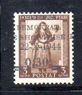 567A/1500 - ALBANIA 1944 , Soprastampato Yvert N. 303  ***  MNH - Albania