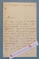 L.A.S Baronne De CASTELLAN (?) - Montpellier Rue Argenterie - Lettre Autographe LAS XIXè - Autographes