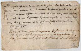 VP13.297 - ANGOULEME - Château De VARS 1761 - Quittance - Sr SEGUIN Fermier De Mon Droit De Pêche ........ - Manuscripts
