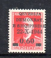 567D/1500 - ALBANIA 1944 , Soprastampato Yvert N. 306  ***  MNH - Albania