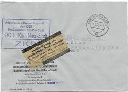 DDR ZKD Brief Kontrolle Aushändigung Als Gewöhnliche Postsendung Arbeiter Und Bauerninspektion Karl Marx Stadt 1966 - DDR