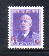 567F/1500 - ALBANIA 1944 , Soprastampato Yvert N. 308  ***  MNH - Albania