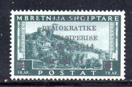 567H/1500 - ALBANIA 1944 , Soprastampato Yvert N. 310  ***  MNH - Albania