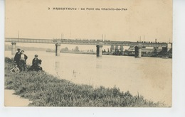 ARGENTEUIL - Le Pont Du Chemin De Fer (passage Train) - Argenteuil