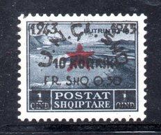 569A/1500 - ALBANIA 1945 , Soprastampato Yvert N. 319  *  Linguellato - Albania