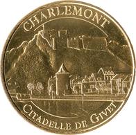 08 GIVET CITADELLE DE CHARLEMONT MÉDAILLE TOURISTIQUE MONNAIE DE PARIS 2018 JETON MEDALS TOKENS COINS - 2018