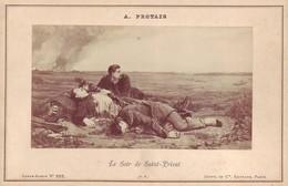Photographie Sur Carton Fort - Le Soir De Saint- Privat - Peinture  De A. Protais - Guerre De 1870 - Ancianas (antes De 1900)