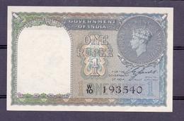 India 1 Rupee 1940 UNC  No Pinholes  Real Gem - Inde