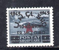 569D/1500 - ALBANIA 1945 , Soprastampato Yvert N. 321  ***  MNH - Albania