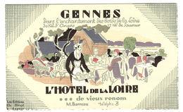 GENNES (49) - CARTE PUB - HÔTEL DE LA LOIRE - Ed. Ch. Hirvyl, Angers - Frankreich