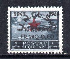 569E/1500 - ALBANIA 1945 , Soprastampato Yvert N. 320  ***  MNH - Albania