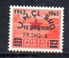 569F/1500 - ALBANIA 1945 , Soprastampato Yvert N. 323  ***  MNH - Albania