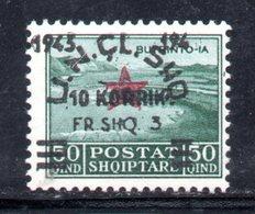 "569G/1500 - ALBANIA 1945 , Soprastampato Yvert N. 324  ***  MNH  Bella Varietà Cifra Persa ""1945 194  "" - Albania"