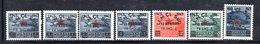 570/1500 - ALBANIA 1945 , Soprastampato Serie Yvert N. 319/325  ***  MNH - Albania