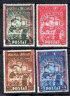 571/1500 - ALBANIA 1945 , Red Cross Serie Yvert N. 326/329  (Mi#375-378) ***  MNH Croce Rossa - Albania