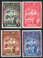 572/1500 - ALBANIA 1945 , Red Cross Serie Yvert N. 326/329  (Mi#375-378) ***  MNH Croce Rossa - Albania