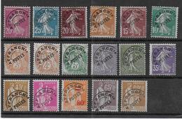 FRANCE - Lot De 17 Préoblitérés Sans Gomme - Cote : 58 € - 1893-1947