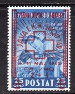 573D/1500 - ALBANIA 1945 , Soprastampato Serie Yvert N. 329  ***  MNH Croce Rossa - Albania