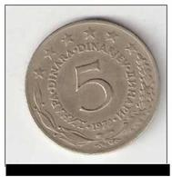 Yougoslavie 5 Dinar YOUGOSLAVIE 1972 - Yougoslavie