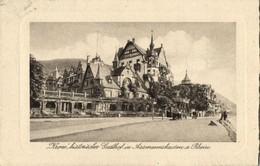 """ASSMANNSHAUSEN Am Rhein, Historischer Gasthof """"Krone"""" (1910s) AK - Germany"""