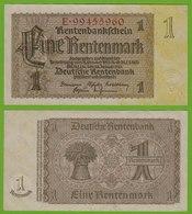 Rentenbankschein Deutsches Reich 1 Rentenmark 1937 Ros 166b  UNC   (19464 - Germany