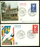 France 1958 FDC's (2) CEPT Timbré Strasbourg - FDC