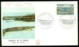 France 1966 FDC Barrage De La Rance - 1960-1969