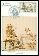 France 1983 Carte Postale Premier Jour Journée Du Timbre Rembrandt - Maximum Cards