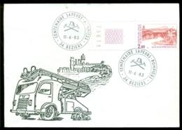 France 1983 Enveloppe Timbré Centenaire Sappeurs Béziers Timbre Aix-en-Provence - France