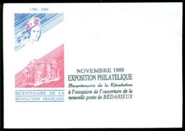 France 1989 Enveloppe Exposition Philatélique Sans Timbre - Non Classés