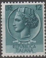 Italia 1953 Turrita L.12 Ruota Sa 712 1v MNH - 6. 1946-.. Republic