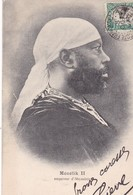 MENELIK II / EMPEREUR D ABYSSINIE / BEL AFFRANCHISSEMENT / - Ethiopie