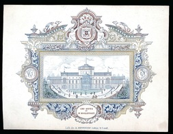 GENT PORSELEINKAART 17 X 13 CM  1846  CASINO DE GAND - CH.SYTS ET P.HOLLEVOET - Gent