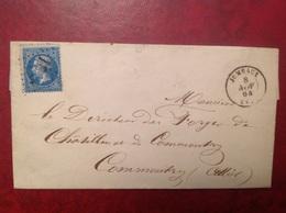 GC 1898 Jumeaux Pour Commentry 1864 - Marcophilie (Lettres)
