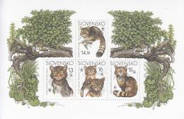 2003 Slovakia WWF Cats Miniature Sheet Of 4 MNH - W.W.F.
