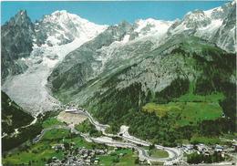 V2718 Courmayeur (Aosta) - Entreves - La Palud - Strada Del Tunnel Del Monte Bianco - Panorama / Non Viaggiata - Altre Città