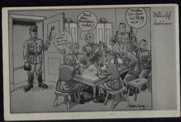 3. Reich - DR Postkarte ,Soldaten Humor: Ungebraucht. - Deutschland