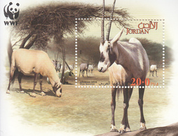 2005 Jordan WWF Arabian Oryx Souvenir Sheet Of 1 MNH - Ongebruikt