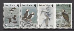 1989 Isle Of Man WWF Birds Strip Of 4 MNH - Ongebruikt