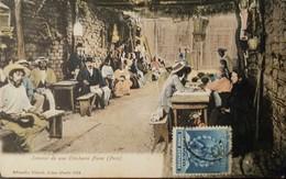 O) 1900 CIRCA-PERU, TYPICAL DRINK -BUSINESS SALE OF CHICHA XIX CENTURY.CHICHERIA PIURA, STAMP FRANCISCO PIZARRO-INCA EMP - Peru
