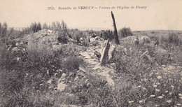 55  FLEURY.  GUERRE14-18 .BATAILLE DE VERDUN. RUINES DE L'EGLISE - War 1914-18