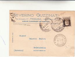 Severino Guzzinati, Articoli Casalinghi. Ferrara 1940 - Negozi