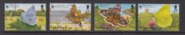 1997 Guernsey WWF Butterflies & Moths Set Of 4 MNH - Ongebruikt