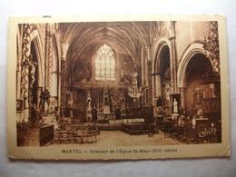 Carte Postale Martel (46) Intérieur De L'Eglise Saint Maur (Petit Format Noir Et Blanc Circulée ) - Autres Communes