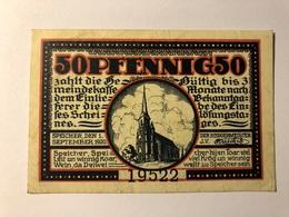 Allemagne Notgeld Speicher 50 Pfennig - [ 3] 1918-1933 : Weimar Republic