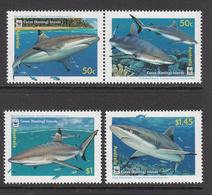 2004 Cocos (Keeling) Islands WWF Sharks Set Of 4 (horiz Pair + 2 ) MNH - Ongebruikt