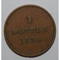 GUERNSEY - KM 1 - 1 DOUBLE 1830 - TTB - - Guernsey